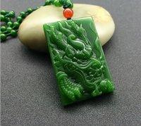 ingrosso condurre i draghi-Commercio all'ingrosso esterno Mongolia imitazione Xinjiang e Tian Bi Jade Dragon Pendant leader pendente ciondolo di giada