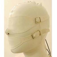 Wholesale customize mask - Mysterious exotic beige white women Handmade customize Latex Hoods Mask Back Zipper Zentai Goggles Masks Hood eye&mouth cover