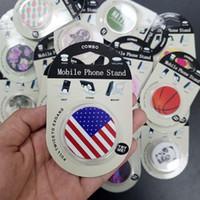 elma araba telefonu tutacağı toptan satış-Toptan Geri Çekilebilir Telefon Tutucu Özelleştirilmiş Logo Popüler Telefon Prizleri ile Telefon için Bireysel Perakende Ambalaj ile Yeniden