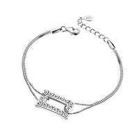 Wholesale bracelet accessories korea online - South Korea fashion silver plated hollow out ms square heart bracelet accessories fashion jewelry drop shipping S200