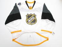 otantik nhl hokey mayo toptan satış-Ucuz Özel 2016 NHL TÜM YıLDıZ OYUN OTANTIK BEYAZ KENAR JERSEY GOALIE CUT 60 Mens Dikişli Kişiselleştirilmiş hokeyi Formalar