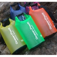 Wholesale travel kit clothes online - New Arrival Waterproof Beach Bag bucket Outdoor Floating Swimming Boating Camping Travel Kit Drifting Folding Storage Bag Dry Bag HH7