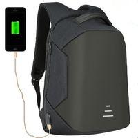 Wholesale anti theft laptop online - 4 Colors USB Charge Backpack Anti theft Backpack Inch Laptop Backpacks Unisex Waterproof Backpacks Computer Bags CCA9950