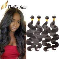 Wholesale highest quality human hair - Bella Hair® 100% Brazilian Hair Weaves Weft 10-24inch 4pcs lot Natural Color 9A High Quality Human Hair Extensions Free Shipping Julienchina