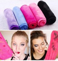Wholesale makeup tool roll online - 40 cm Microfiber Cloth Makeup Remover Towel Face Cleaning Cloth Facial Makeup Clean Pads Water Towel Tools Bathroom Accessories