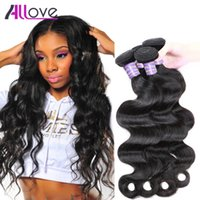 Wholesale real virgin hair free shipping for sale - Group buy Allove Brazilian Virgin Hair Body Wave Bundles Real Virgin Brazilian Human Hair Weaves Wet And Wavy Natural Wave