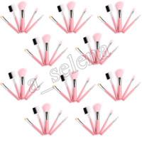 Wholesale mini 5pcs makeup brush set - 5pcs set Mini 5pcs Makeup Brushes Cosmetics Tools Eyeshadow Face Cosmetic Makeup Brush Blush Soft Brushes Kit Pink brush