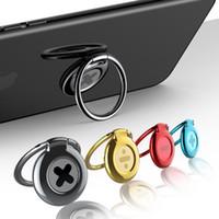 ringhaltertabletten großhandel-Universal Ring Halter Metall Finger Ring Halter Smartphone Handy Finger Ständer Halter für iPhone X 8 Samsung Tablet mit Packag