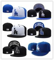 nuevo sombrero para hombre al por mayor-Nueva llegada superior de la venta LA LA béisbol equipado sombreros para hombre, deporte Hip Hop equipado gorras para mujer, moda algodón sombreros casuales