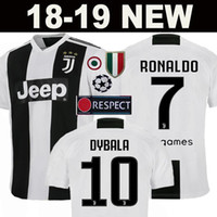 Wholesale yellow soccer team uniforms - New 2019 RONALDO JUVENTUS Soccer Jersey 18 19 JUVE 2018 home away Men Woman DYBALA HIGUAIN Football Shirt CRISTIANO MANDZUKIC Uniform Team