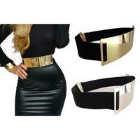 ingrosso donne oro di abbigliamento-Donna Oro Argento Marca Classy Elastico ceinture femme 5 colore cintura da donna Apparel Accessorio all'ingrosso Ordine 3 pezzi o più