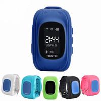 gsm gps reloj de pulsera al por mayor-HOT Q50 Smart Watch Niños Reloj de pulsera GSM GPRS Localizador GPS Rastreador Anti-Perdido Guardia Infantil para iOS Android