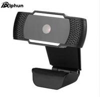 tv-cams großhandel-Alphun USB Web Cam Webcam HD 12.0MP PC Kamera mit Absorptionsmikrofon für Skype für Android TV Drehbare Computer Kamera