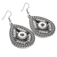 Wholesale Vintage Mini Chandelier - New Snap Button Jewelry Vintage Mini 12mm Snap Button Earrings for Women Girls Noosa Drop Dangle Earrings
