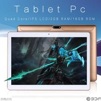 Wholesale original brand tablets online - 10 inch Original G Phone Call SIM card Android Quad Core CE Brand WiFi FM Tablet pc GB GB Anroid Tablet Pc