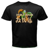 Wholesale arcade street games for sale - Group buy Shirts Summer Short Sleeve Novelty Double Dragon Classic Vintage Arcade Retro Game Street Fighting T shirt Black