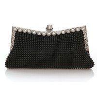 Wholesale bags for evening dresses resale online - Luxury Women Handbag Gorgeous Aluminium Flake Banquet Bag Crystal Lady Handbag Dress Up For Party Formal Dress Evening Clutch D18110106