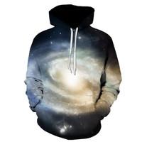 хараюку галактики толстовки оптовых-Drop shipping Fashion 3D Galaxy hoodies print /tiger/cat jacket men/women Harajuku sweatshirt casual Graphics pullover hoody