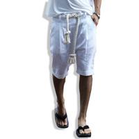 новая одежда панков оптовых-NEW Summer men punk shorts fashion casual street male beach shorts men belt linen stage clothing K145