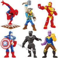 grandes brinquedos de plástico venda por atacado-SJ 37 cm grande martelo thor nano blocos forte homem De Ferro spiderman modelo figuras de plástico diamante blocos de pantera negra super hero tijolos brinquedos
