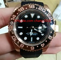 Wholesale automatic purple watch for sale - luxury watches AAA high quality automatic mechanical watch black rubber strap blacke dial men watch Wristwatches