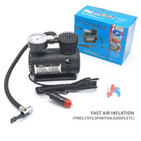 Wholesale psi gauge - 300 PSI Mini Air Compressor 12V Car Auto Portable Pump Tire Inflator w gauge New