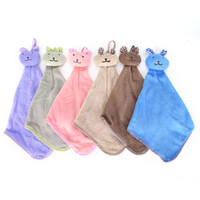 Wholesale Quality Kitchen Towels - High Quality 1pcs Rabbit Hand Towel Quick Dry Kitchen Cartoon Animal Hanging Cloth Soft Plush Dishcloths Hand Towel For Bathroom