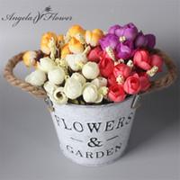 ingrosso piante secchi-1 Set mini fiore + vaso di seta daisy fiore con secchio di ferro artificiale pianta fai da te di natale decorazione di nozze per la casa accessori per la tavola decor