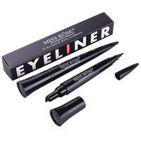 eyeliner stamp UK - New Makeup Tool Miss Rose Magic Eyeliner & Seal Pencil Professional Eyeliner Stamp Double Heads Two Heads Eyeliner Pen