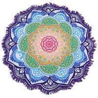 Wholesale blankets hanging for sale - Group buy Lotus Mandala beach yoga mat Hanging Blanket printed Rug Tapestry Tassel Beach Throw Hippie Boho Swiming Beach Towel FFA198 COLORS