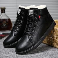 Heißen männer Stiefel Warme männer Baumwolle Schuhe Mode Sneaker Hohe Hilfe Plus Samt Warme Baumwolle Schuhe Große Größe winter herren Schuhe