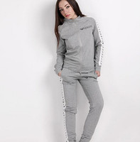 Wholesale short womens clothing online - Two Piece Set Women s Tracksuits Spring Sweatshirt Print Long Pants Pullover Womens Set Female Sport Suits Fashion Women Clothing