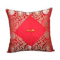 Wholesale pink knot for sale - Group buy Chinese knot Patchwork Large Christmas Cover Cushion Pillow Sofa Chair Decorative Cushions Office Home Luxury Silk Satin Pillow Covers