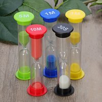 Wholesale sandglass hourglasses resale online - 5pcs second minute minutes minutes minutes Colorful Hourglass Sandglass Sand Clock Timers For Tea Cafe Timekeeping Hourglass