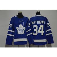 ingrosso foglia di acero bianco-Mens Toronto Maple Leafs 100th Anniversary Auston Matthews Home Away Blue White Hockey Jersey Tutti i giocatori