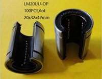 slides lineares venda por atacado-100 pçs / lote LM20UU-OP LM20UUOP LM20-OP 20mm tipo aberto linear bucha deslizante rolamentos de movimento linear peças de impressora 3d cnc router 20x32x42mm