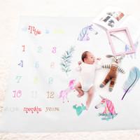 5eafab507 Mantas de bebé Unicorn Print Playmats para niñas niños Alfombra de moda  niños fotografía Manta decoración de habitaciones