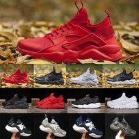 Wholesale breathe sports - 2018 New Huarache 4 Running Shoes For Men Women All White Huraches Ultra Breathe Huaraches Athletic Hurache Sports Sneakers Size 36-45
