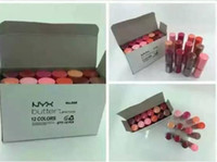 Wholesale lip matte 24 colors resale online - NYX Matte Lipstick Hours Long Lasting Lip Sticks Branded Colors Makeup Branded Pucker Up for the Holiday Cream