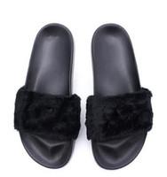 ingrosso bowtie misto-Rihanna Shoes Fenty pantofole Mix colori Leadcat Fenty per donna Con scatola taglia 36-40 Fashion lady estate bowtie Slide Sandali infradito.