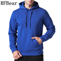 Wholesale clothes factory outlet for sale - Rfbear Brand New Men Casual Hoodies Sweatshirt Solid Color Print Trend Fleece Cotton Pullover Coat Warm Clothes Factory Outlet