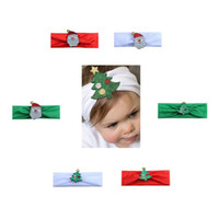 Wholesale stretch headbands for sale - Christmas Hairbands Baby Kids Elastic Floral Christmas tree Stretch Headband Photo Prop Gift Hairband Accessories Headwear colors GGA1261