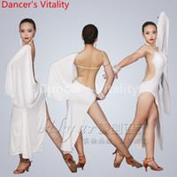 Wholesale professional latin women costumes for sale - 2017 Professional New Latin Dance Competition Costumes Rhythm Salsa Cha Cha Tango Dress Sexy Women Latin Dance Skirts