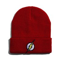 bef2a82ed2f Lightning Thunder Pattern Beanie Woolen Knitted Hat Man Woman Autumn Winter  Keep Warm Cap Pure Color Fashion 6 2dl bb
