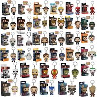 estatuillas maravilla al por mayor-Funko POP Marvel Super The Avengers Hero Harley Quinn Deadpool Harry Potter Goku Spiderman Joker Juego de tronos Figuras Juguete Llavero