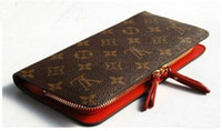 ingrosso chiusura lampo-Fashion Long Zipper Lady Purses Donna Portafogli Donna New Luxary Phone Tassel Coin Pocket Design Frizione PU in pelle titolare della carta