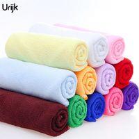 ingrosso pulizia a secco veloce-Urijk 5PC 30 * 70 centimetri in microfibra morbido asciugamano per bagno cucina mano auto pulizia asciugamani tessuto asciugatura rapida housework pulito auto asciugamano