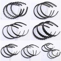 erwachsene plastikstirnbänder groihandel-Kopfschmuck Schwarz Mädchen Erwachsene Haarschmuck Stirnband Kunststoff Variety Stirnband