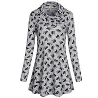 ae33139f99652 Sonbahar Ve Kış Yeni Desen kadın Giysileri Elbise Fransa Kaşmir Baskı Fold  Yaka Büyük Sarkaç A928