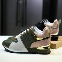 Wholesale Net Factory - Women's casual shoes European station leather uppers net yarn flat running shoes factory direct free shipping